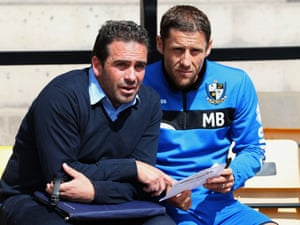 Port Vale manager Bruno Ribeiro and Michael Brown during Port Vale's pre-season friendly against Manchester United
