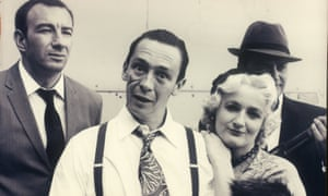 Simon Day, Paul Whitehouse, Caroline Aherne and Charlie Higson in The Fast Show sketch The Unpronounceables.
