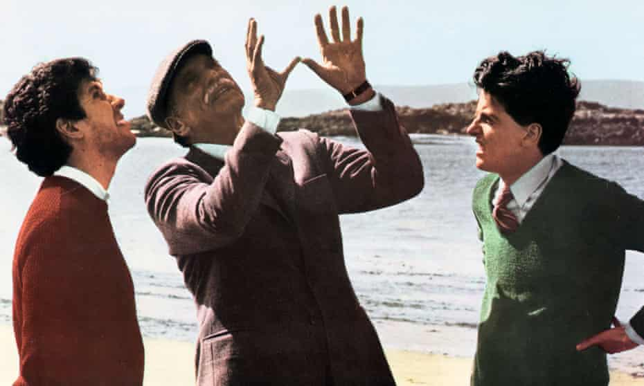 Big questions … from left, Peter Riegert, Burt Lancaster and Peter Capaldi in Bill Forsyth's film Local Hero.