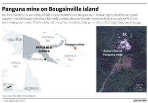 Panguna mine on Bougainville island.