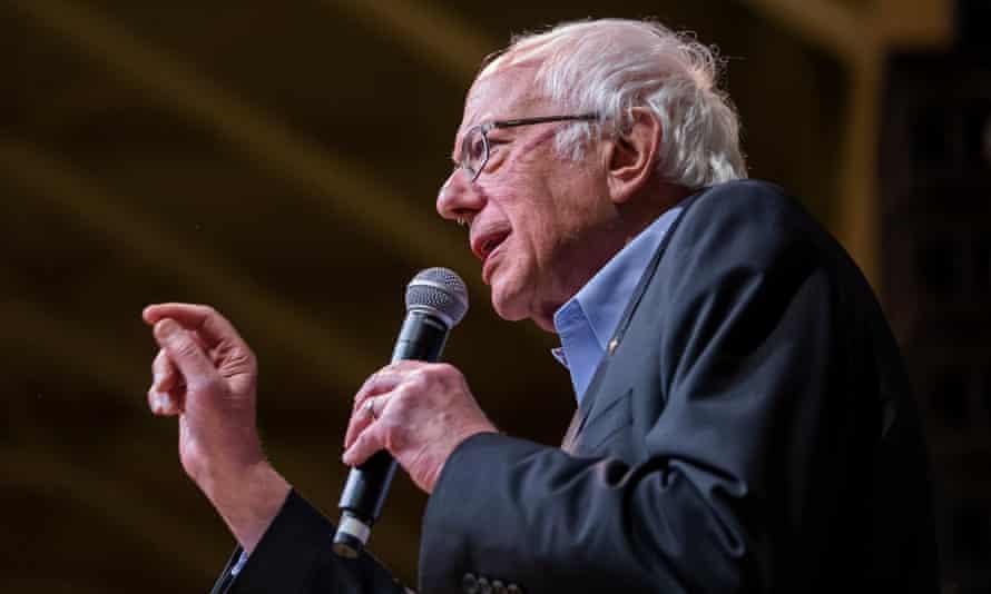 Senator Bernie Sanders speaks at a campaign rally in Richmond, Virginia