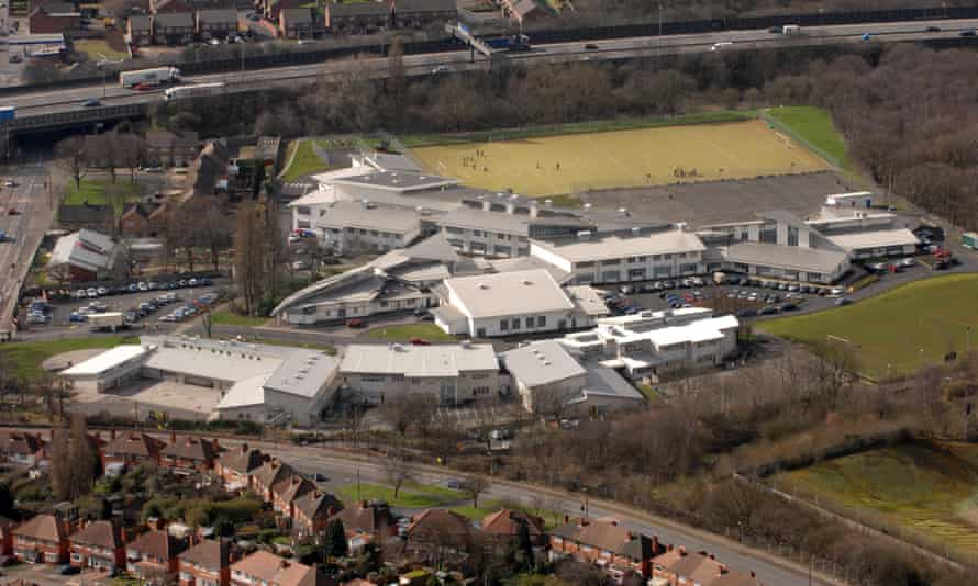 Aerial view of Perry Beeches school