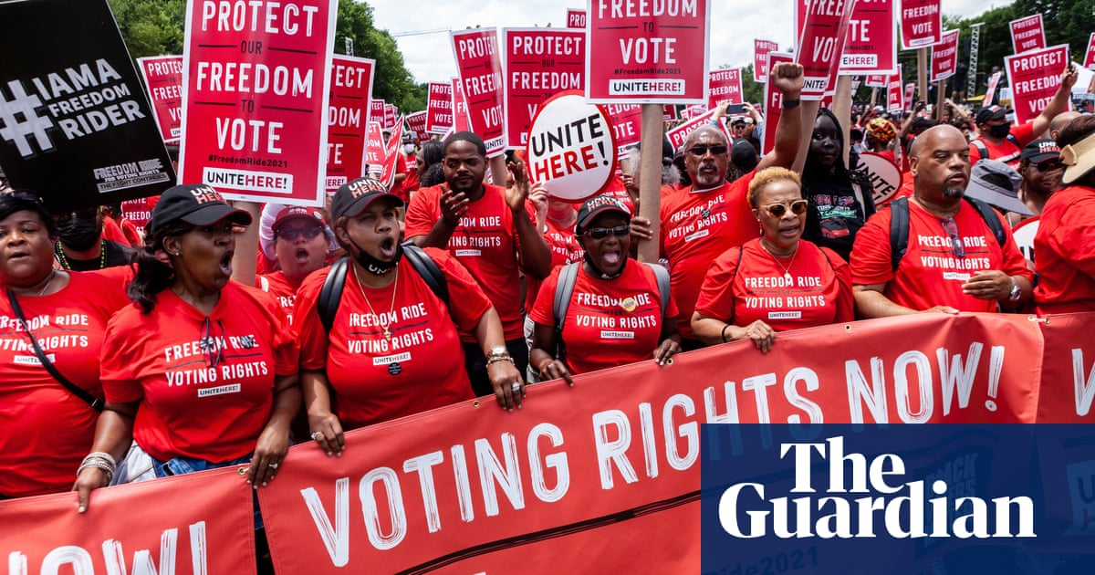 'He's phoning it in': why Biden is losing the voting rights fight