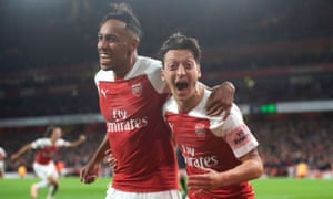 Pierre-Emerick Aubameyang, left, and Mesut Özil are among the players who will be spoken to by Arsenal over their behaviour in August.