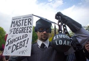 Demonstration against student loan debt