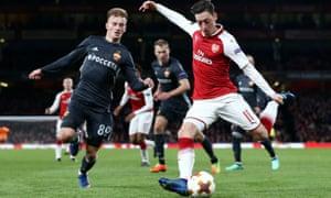 Mesut Özil Arsenal against CSKA Moscow