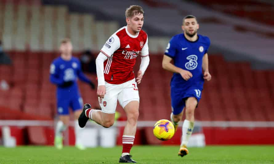 Emile Smith Rowe was one of the youngsters to impress in the victory.