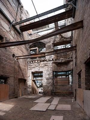The Mackintosh building foyer, looking towards the front doors