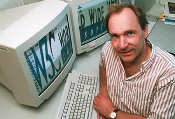 Berners-Lee in 1998, as director of the World Wide Web Consortium at MIT, Cambridge, Massachusetts.