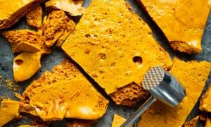 Smashing it ... cinder or honeycomb toffee