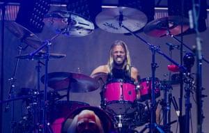 Taylor Hawkins on drums.