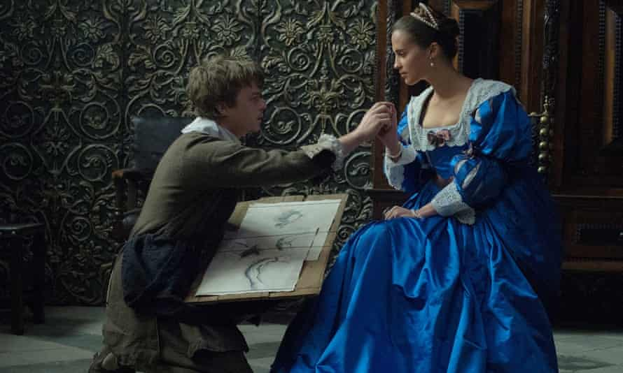 Dane DeHaan and Alicia Vikander in Tulip Fever.