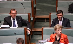 Tony Abbott and Kevin Andrews during question time in the House of Representatives in Canberra this afternoon, Thursday 3rd March 2016.