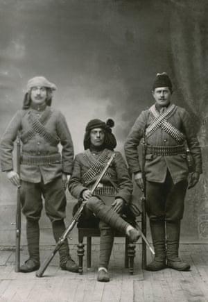 Georgian Soldiers. Studio photo. Tbilisi, 1918-1921