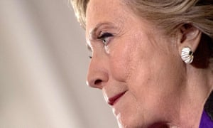 Hillary Clinton speaks to staff and supporters