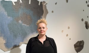 Mari Meen Halsøy with her installation at the William Morris Gallery in Walthamstow, London.