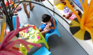 A rescued children in the playroom at the Child Protection Unit, Philippine General Hospital.