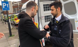 Barrister Franck Magennis was arrested this morning at the picket line outside St George's University of London hospital