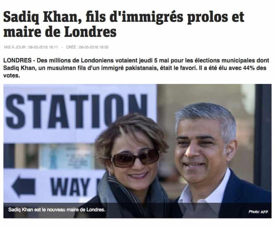 The Metronews freesheet's report on Sadiq Khan.