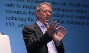 Professor Sir David King, the former UK Government's Chief Scientific Adviser.