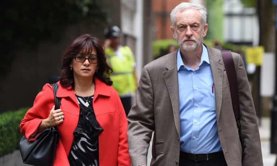 Jeremy Corbyn and his wife, Laura Alvarez
