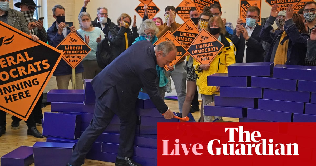 Boris Johnson says Tory loss in Chesham and Amersham byelection 'disappointing' – UK politics live