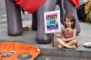 Child at Extinction Rebellion Marble Arch