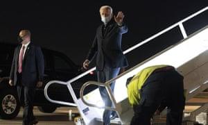 Just wear a mask. Joe Biden arriving in Delaware yesterday.