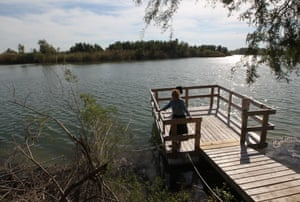 Wright stands on the banks of the Rio Grande river, a mile south of the center.