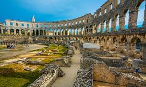 The Roman amphitheater in Pula