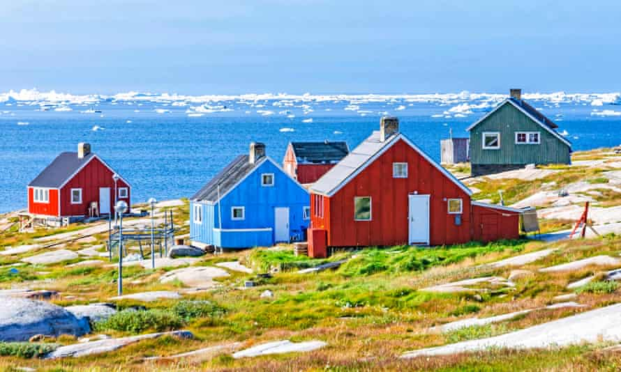 The colourful houses of Rodebay, Greenland.