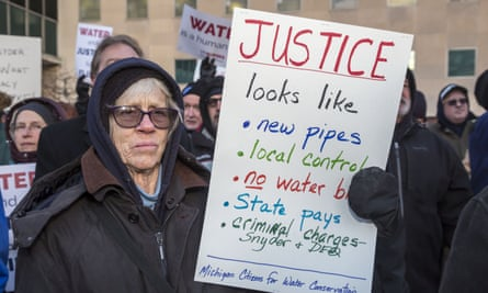 Protesters and residents are calling the resignation of Michigan governor Rick Snyder.