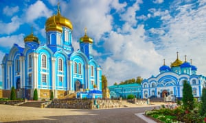 The Cathedral of Our Lady of Vladimir in Zadonsk, in Russia's Lipetsk region.