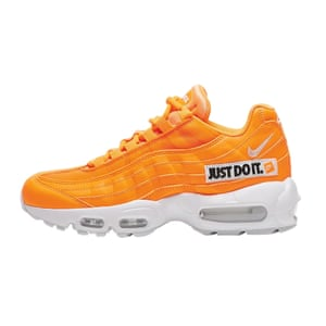 Orange trainers. £139, by Nike
