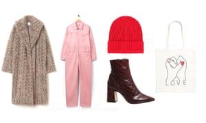 Coat, £119.99, hm.com; Overalls, £135, mcoveralls.com; Hat, £9.90, uniqlo.com; Boots, £96, office.co.uk; Bag, £6, monki.com