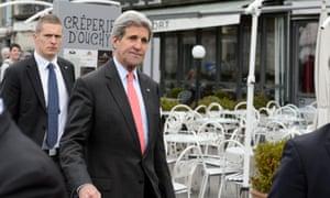 John Kerry in Lausanne