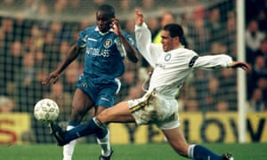 Bruno Ribeiro tackles Chelsea's Frank Sinclair