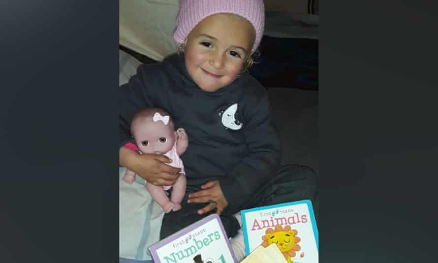three-year-old Amirah, pictured, who has contracted frostbite