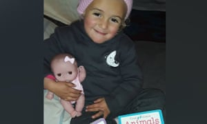 Three-year-old Amirah, who lives in the al-Hawl camp in Syria, has contracted frostbite on her left hand. This picture was taken in December and her condition has worsened. Australia has refused to repatriate its citizens from the camp, which houses the wives and children of former Isis fighters.