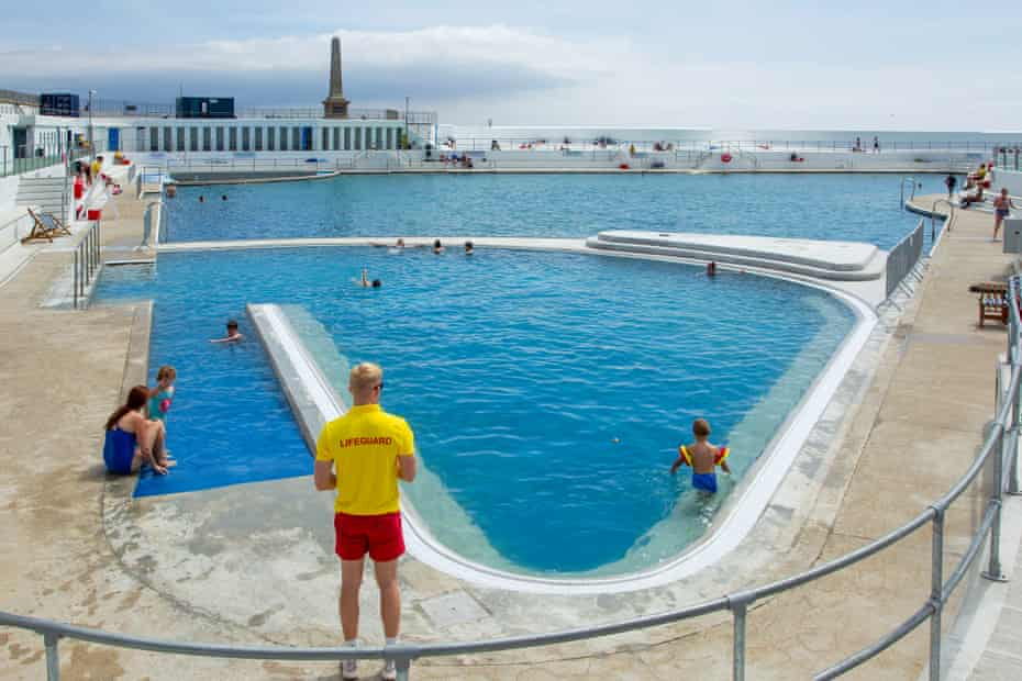 Penzance's art deco lido Jubilee, with its new geothermal pool.