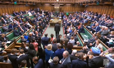 MPs await the result of voting on the Benn amendment
