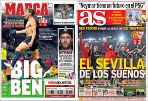 The front pages of Marca and as on Wednesday.
