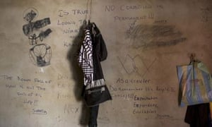 Messages written by Gambian migrants, who were deported from Libya.