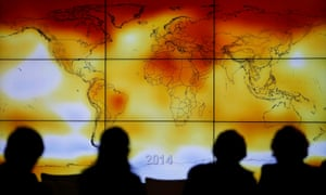 A world map showing climate anomalies at the summit in Paris