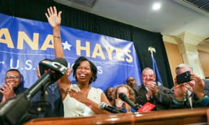 Jahana Hayes is the first black woman to represent Connecticut in Congress.