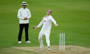 Simon Harmer took the final wicket of Somerset's first innings.