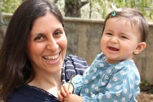 Nazanin with daughter Gabriella