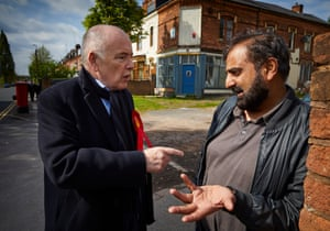 Labour candidate Jack Dromey campaigning in the Erdington where he has been the Birmingham constituency's MP since 2010.