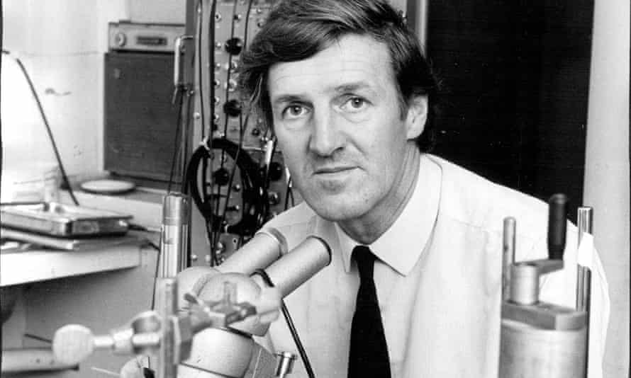 Peter Sleight at the Royal Prince Alfred hospital, Sydney, 1973. His department at Oxford was 'mildly madcap, but always successful'.