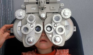 Child at the optician